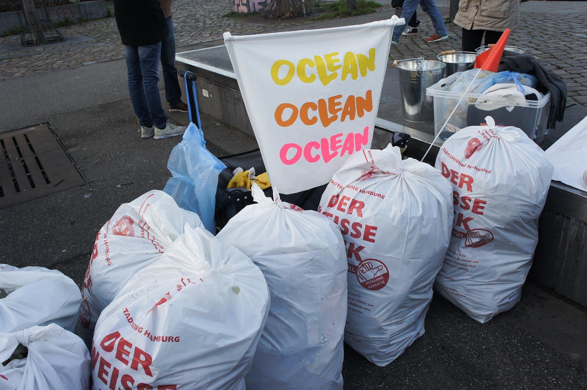 Clean up Hamburg - Für ein sauberes Hamburg: Oclean gegen Plastik